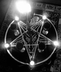 Pentagram and Satanic Candles